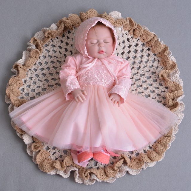82105d6d8f53 Pink 6 8 12 18 24 Month Birthday Baby Girls Dress Full Sleeve Baby Girl  Baptism