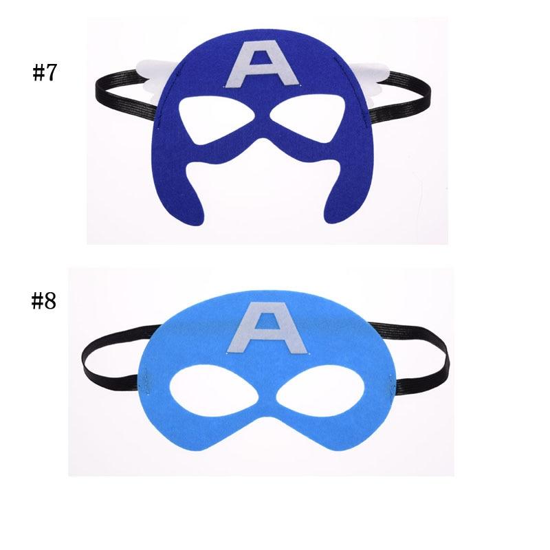 Máscara capitão América Batman Superhero Cosplay Superman Avengers Thor crianças Natal Trajes de Máscaras Do Partido Do Disfarce do Dia Das Bruxas