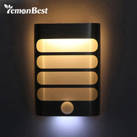 Rechargeable Night Light With Motion Sensor LED Wireless Wall Lamp Night Auto On Off For Kid