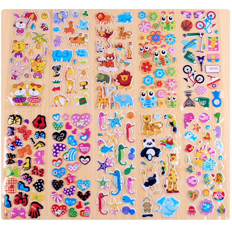 10pcs/lot (100 STYLE)Cute pet  DIY Removable Wall Stickers Cartoon Mural Decal Small Size Educational Toys beyblade set