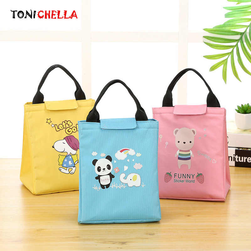 Baby Food Insulation Bags Cute Cartoon Animal Infant Feeding Milk Bottles Warmer Thermal Bag Portable Waterproof Handbag CL5508