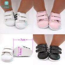 Mini 7cm bebek beyaz ayakkabı ayakkabı bebekler için uyar 43 cm oyuncak yeni doğan bebek aksesuarları ve amerikan oyuncak bebek