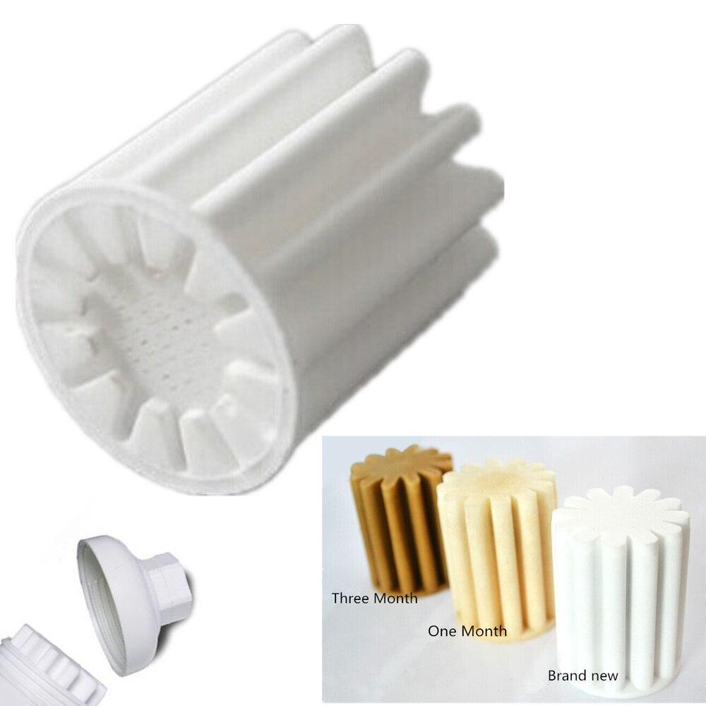 hot 2pcs kitchen bathroom shower bath head water softener replacement filter element filter water pe core