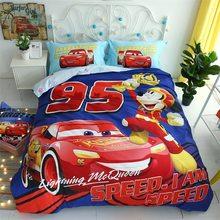 27f42607a4 Relâmpago McQueen Carros da marca disney cama colcha da cama definir o  tamanho gêmeo tampas para