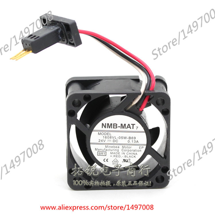 NMB-MAT 1608VL-05W-B69, BR1 DC 24V 0.13A 40X40X20mm Server Square fan new original for fanuc system fan a90l 0001 0551 a nmb 1608vl 05w b49 24v 0 07a 40 40 20mm 4cm
