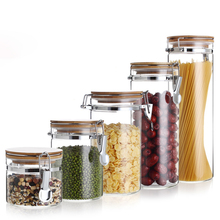 Storage Bottles Glass Container With Lid For Spices Confectioner Food Sundries Tea Coffee Sugar Sealed Kitchen Mason Jar
