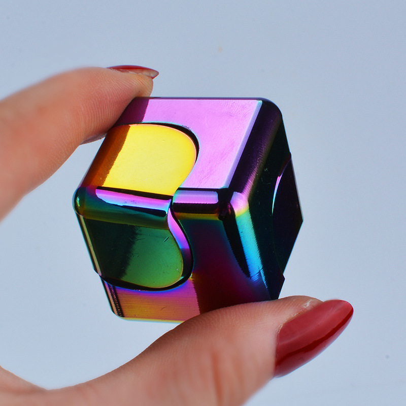 Stress Relief Cube Hot Spinner Cube EDC  Cuber Mini Square Finger Spinner Toys For Autism&ADHD Puzzle Gift For Adult
