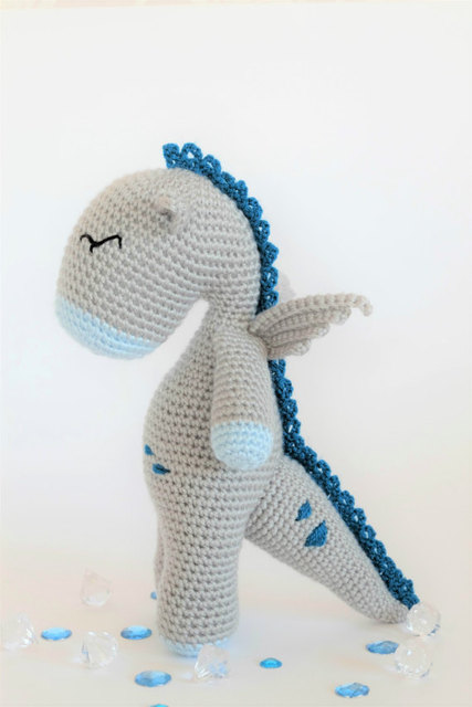Gehaakte Amigurumi Dragon Knuffel baby Speelgoed pop rammelaar
