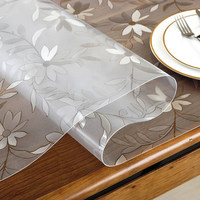 2018 PASAYIONE table mat transparent pvc glass table cloths rectangular waterproof oilproof crystal plate soft glass for tables
