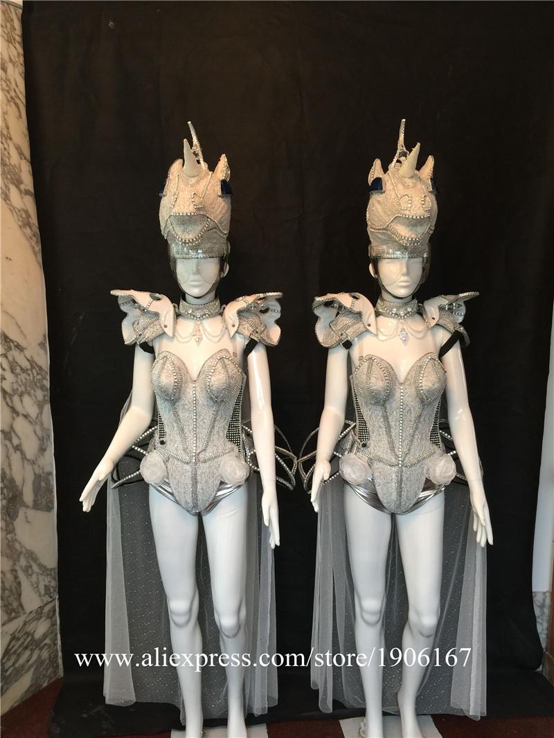 Led luminous horse costume flashing ballroom stage clothes03