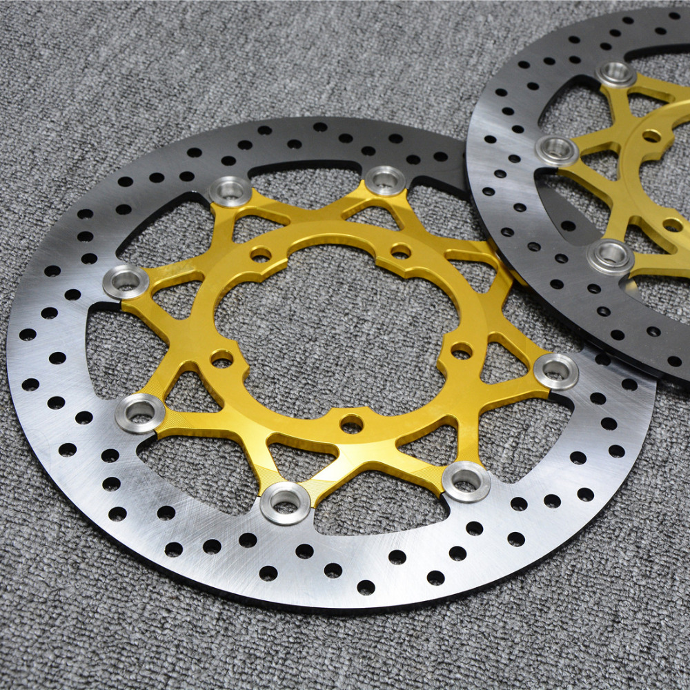 2 pieces motorcycle Front Disc Brake Rotor Scooter Front Rear Disc Brake Rotor for SUZUKI GSXR600/750 2006-10 GSXR1000 K5 05-06 motorcycle accessories front brake discs rotor for suzuki gsf1200 2006 06 motorbike accessories front brake cn