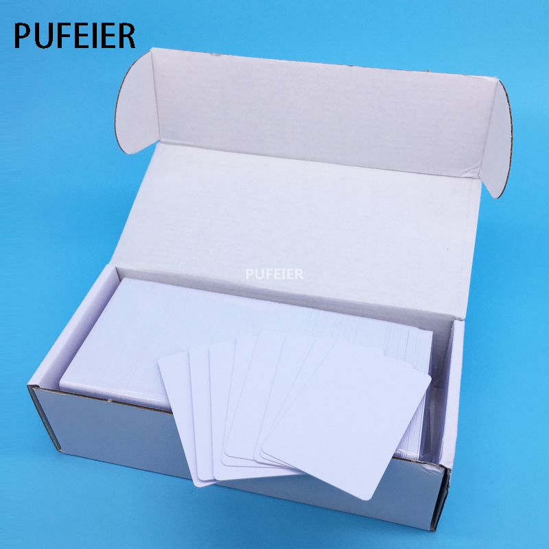 Free Shipping 230PCS/Box Inkjet Printable White Blank PVC Card No Chip For Epson Canon Printer Tray 85.6*54*0.76mm