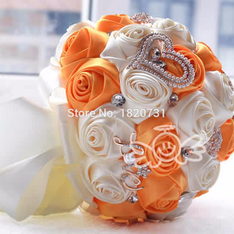 2017-in-stock-Stunning-Wedding-flowers-White-Bridesmaid-Bridal-Bouquets-artificial-Rose-Wedding-Bouquet (2)