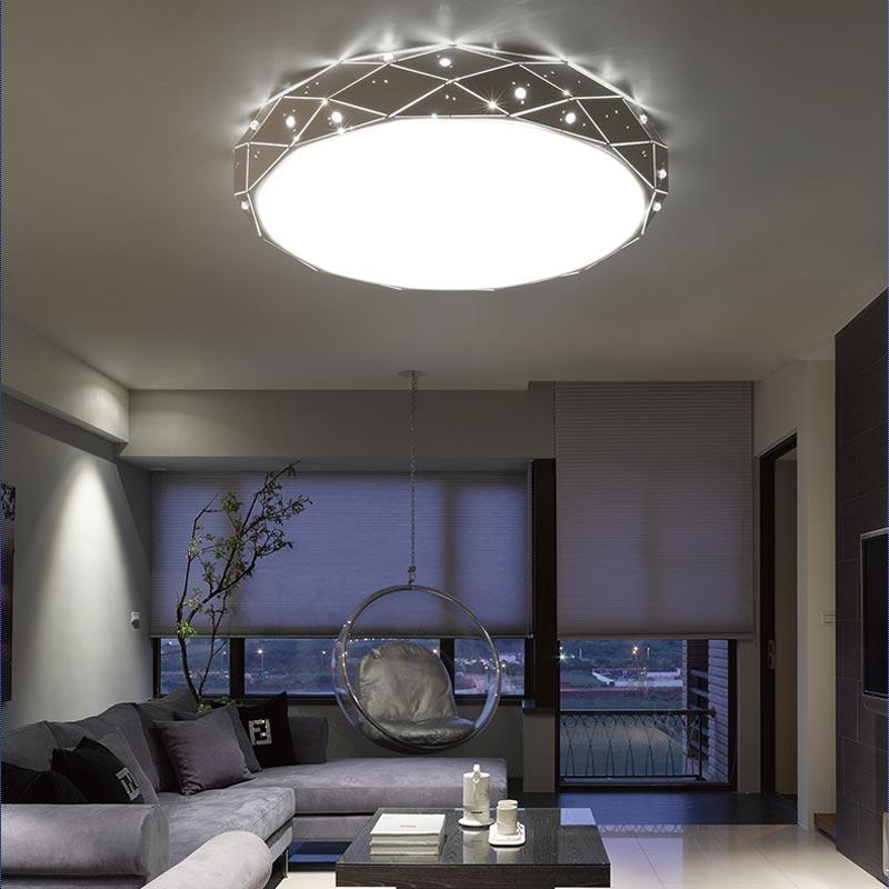 Modern White Iron Ceiling Lights Living Room Bedroom Kitchen Led Ceiling Lamp Fixtures Decoration Home Lighting Lustre 110-220V