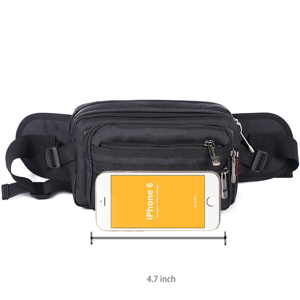 Image 5 - Waist Pack Casual Functional Fashion Men Waterproof Fanny Pack Women Belt Bum Bag Male Phone Wallet Pouch Bags Unisex 98011-in Waist Packs from Luggage & Bags