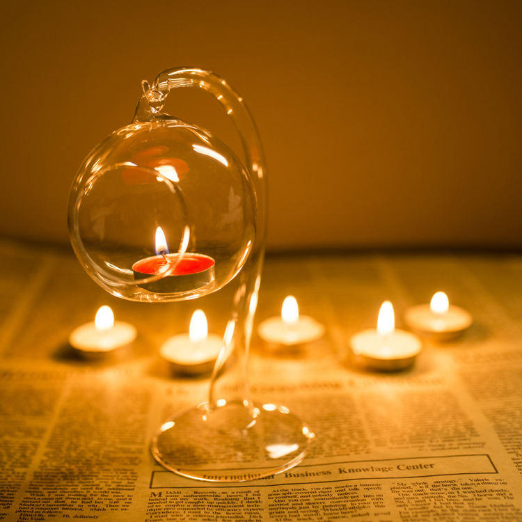 Висит романтичное украшение для свадьбы прозрачная трубка из стекла подсвечник-шар держатель лампы для подсвечника обеденный стол Декор