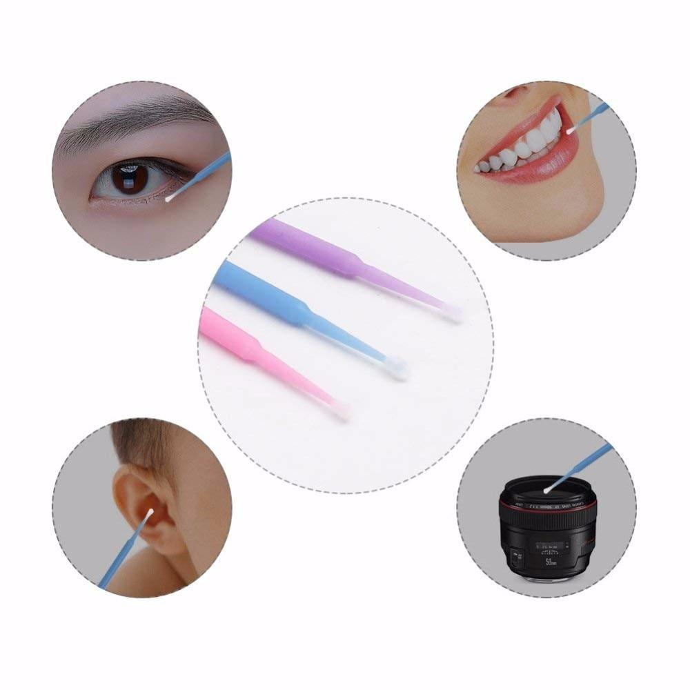 100 Pcs Eyelash Brushes Dental Micro Brushes Disposable Materials Eyelashes Mascara Wands Applicators Medium Fine Makeup Tools 3