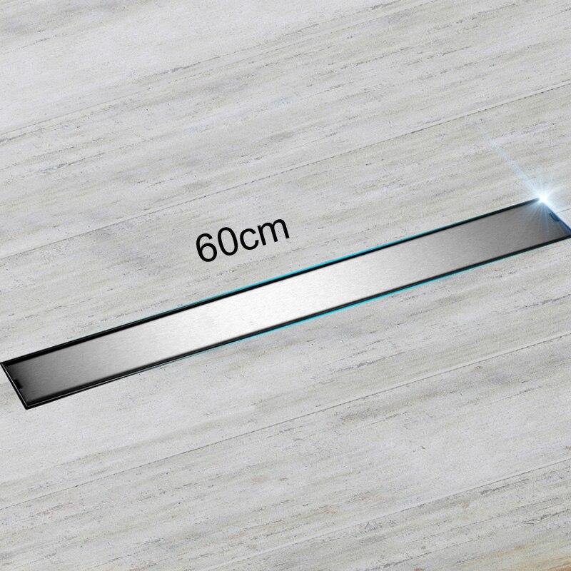 Qualité 60 cm couvercle de Drain de sol résistant aux odeurs Rectangle SUS304 en acier inoxydable Drain/égouttoir de sol de douche