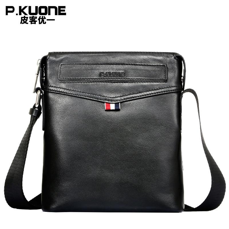 692d26a955 High Quality Men Messenger Bag Fashion Genuine Leather Briefcase Bag Casual  Crossbody Business Bag Black P611013