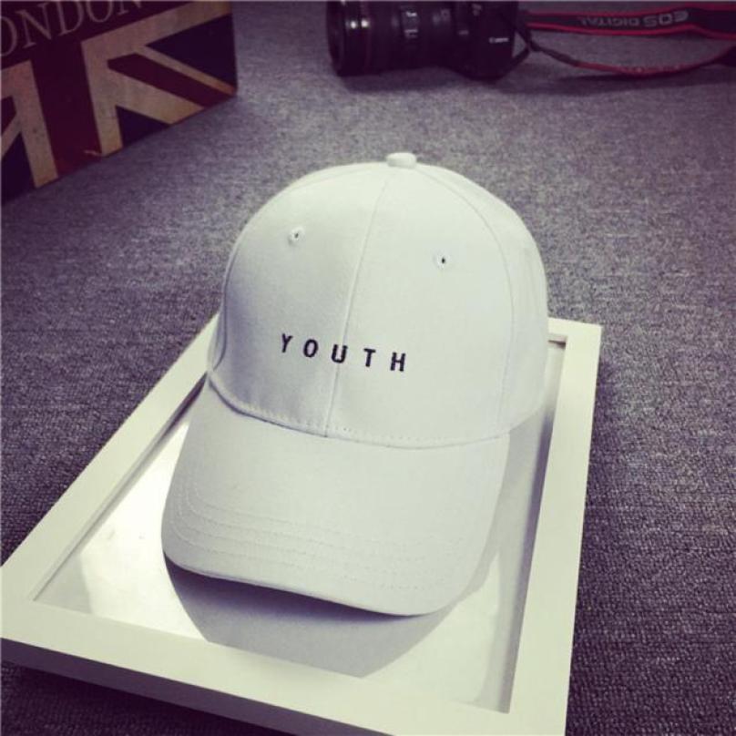Fashion Cap Women Men Summer Spring Cotton Caps Women Letter Solid Adult baseball Cap Black White Hat Snapback Women Cap 2016 1