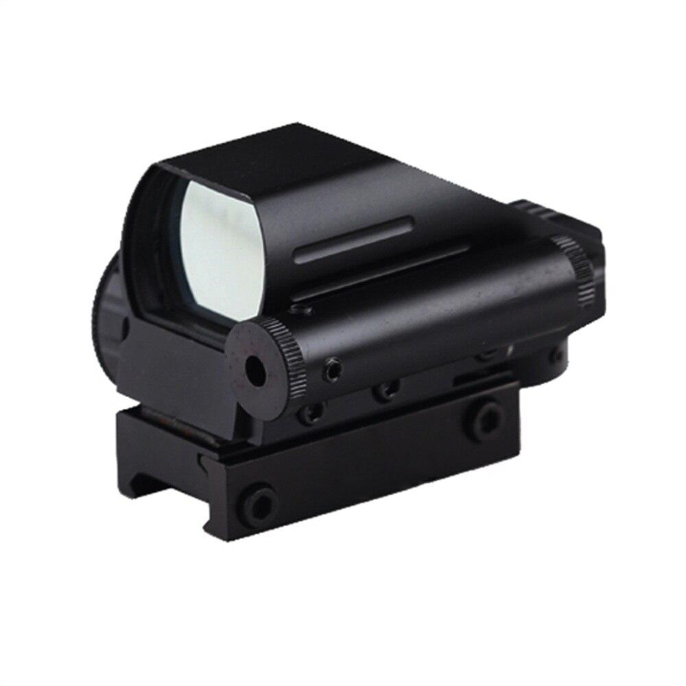BIJIA Tactique Reflex Rouge/Vert Laser 4 Réticule Dot champ de vision Carabine Fusil sight Chasse Rail Mount 22mm