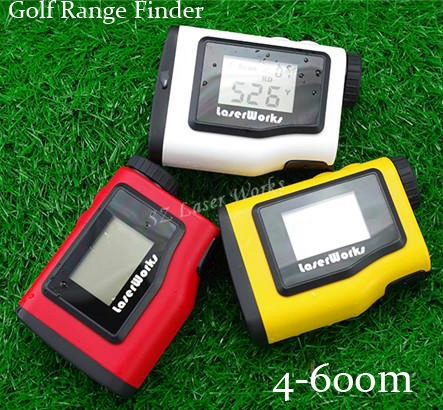 3 colors Monocular Angle of Elevation 600M Laser Golf Rangefinder Laser Angle Finder with angle and Slope Function simulation mini golf course display toy set with golf club ball flag