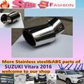 Высокое Качество для SUZUK1 Vitara 2016 Стайлинга автомобилей крышка глушителя внешней конце трубы посвятить нержавеющей стали выхлопных кончик хвоста 1 шт.