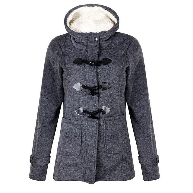 LOSSKY Long Sleeve Velvet Winter Jacket Women Fall 2018 Hooded Buttons Plus Size 5xl Warm Coat Woman Casual Parkas Veste Femme 2