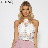 2016 European Lace Sexy Crop Top Harajuku Cropped Blusa Slim Short Camis New Fashion Charming Women