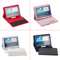 Hot Removable Wireless Bluetooth Waterproof Keyboard + PU Case Cover Holder For Samsung Galaxy Tab3/4 T530/P5200 EM88