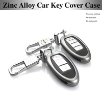 Voiture Key Case Cover Shell Porte-clés Porte-clés En Alliage de Zinc de protection pour nissan sylphy clé bauchi juin loulan Toronto sun qashqai
