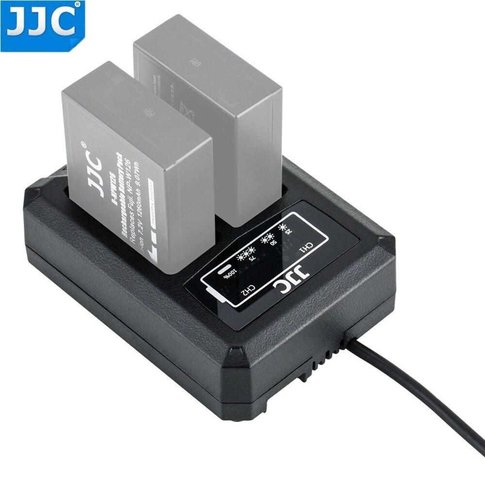 JJC batería dual USB cargador de viaje para Fuji Fujifilm NP-W126 NP-W126S X-T3 X100F X-H1 X-Pro2 X-Pro1 X-T2 X-T1 X-T30 X-T20 Funda de cargador de batería Baseus para iPhone X Xs Max Xr, funda de Banco de energía externa, paquete de carga de batería, funda de respaldo para iPhone X Xs