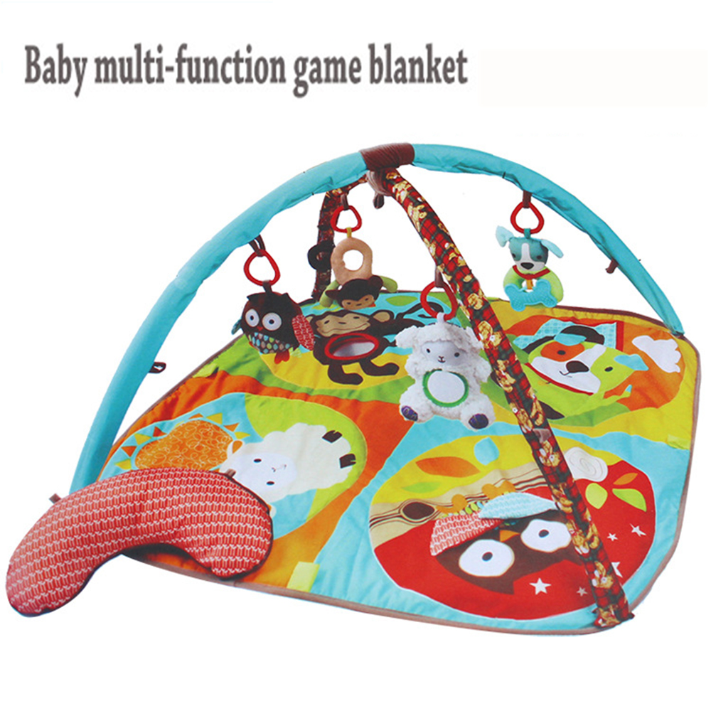 Educational Baby rattle distorting mirror Teether Toy Play Mat Plush Game Tapete 0-1 Year Infant Crawling Mat Blanket Carpet soft infant crib bed stroller toy spiral baby toys for newborns car seat hanging bebe bell educational rattle toy for gift