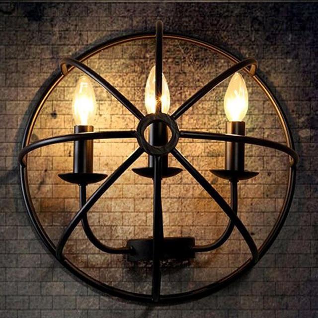 E14 3 led ampoules Américain Pays Style Mur Lampe Cage À Oiseaux ...