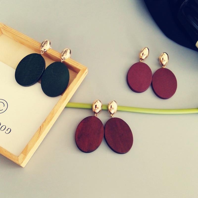 Kshmir geometric oval earrings atmospher