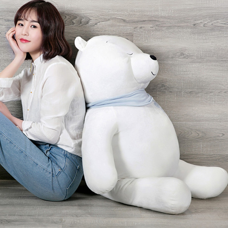 Fancytrader Cuddly Soft Stuffed Animals Polar Bear Doll Big Giant Pop Anime White Bears Toys 100cm 39inch Nice Gifts polar soft strap white m xxl gen