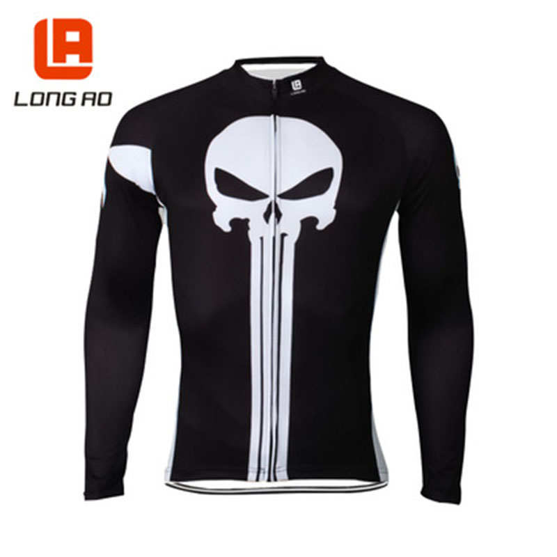 Hot 2018 New Men SpringAutumn Long Sleeve Cycling Clothing Quick Dry Bicycle Jersey Ropa Ciclismo Bike Riding Wear Anti-UV