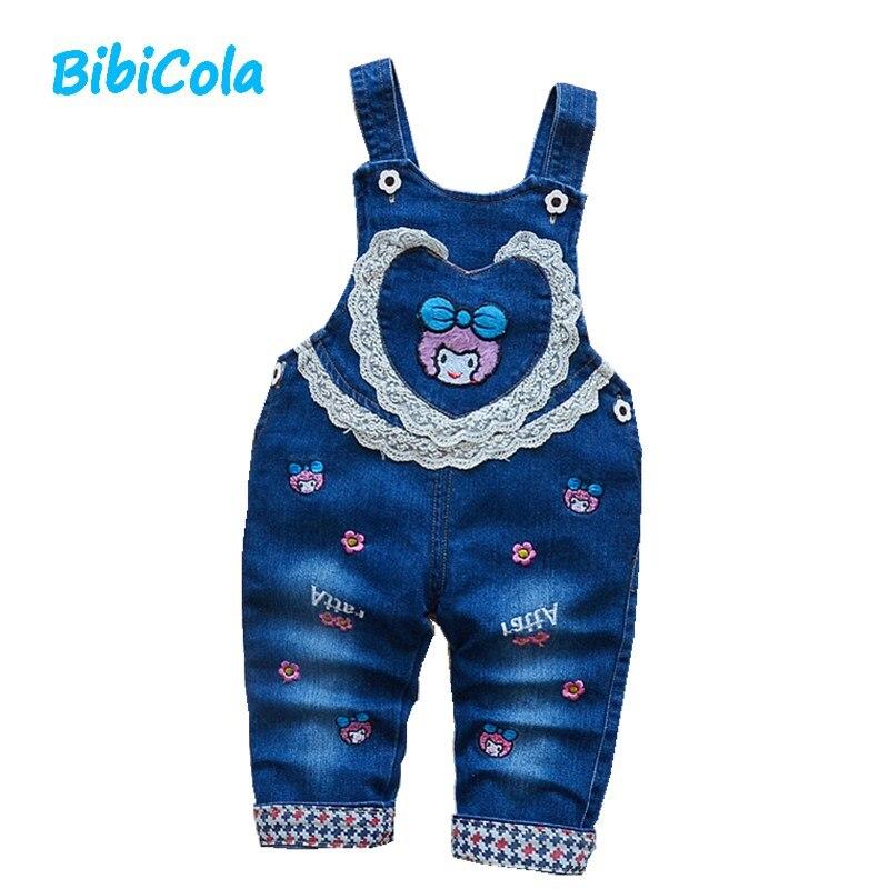 100% Wahr Bibicola Babykleidung Jungen Mädchen Jeans Overalls Kleinkind Kinder Cartoon Spitze Strampler Kleinkind Kinder Bib Jeans Kinder Jeans Bequem Zu Kochen