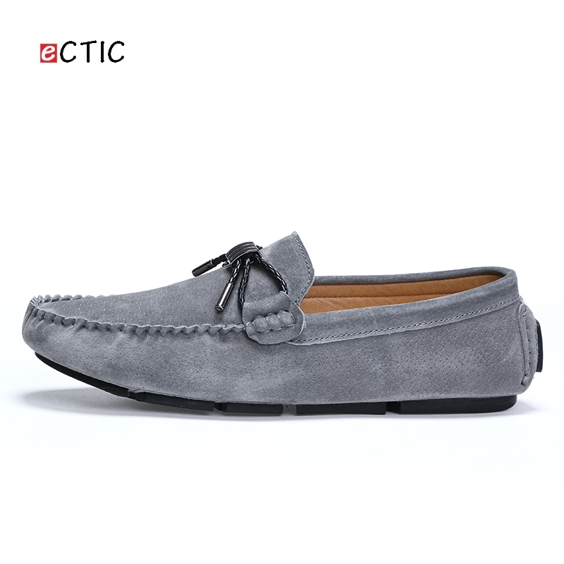 ff4bfc462eb3 Ectic Quality Shoelace Vintage Men Flats Loafers Genuine Pigskin Upper Slip  on Shoes Handmade Sewing Moccasins Drop Shipping-in Men s Casual Shoes from  ...
