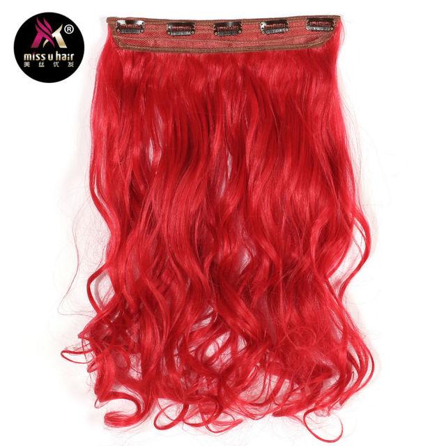 Miss U Hair 20 50cm 5 Clips Synthetic Long Wavy Clip In Hair