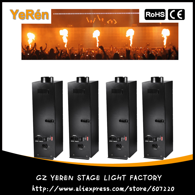 цены  (4 pieces/lot) Stage DJ Fire Machine DMX Flame Projector  Stage  Effect Equipment DMX or Manual  Control