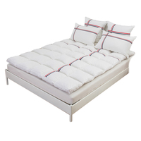TUTUBIRD 5~6.5kg Duck/Goose Down Premium Hotel Quality Cotton Mattress Pad Plush Durable Feather Bed Topper King Queen Twin Size