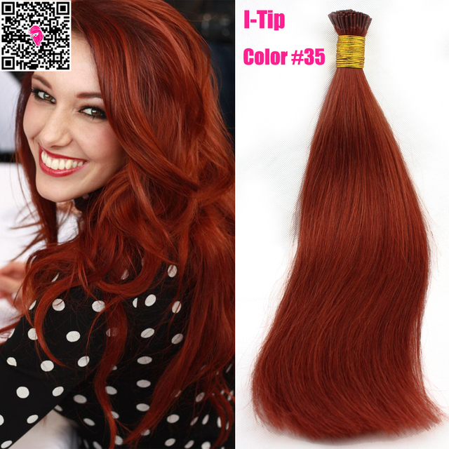 Pre Bonded Keratin Fusion I Tip Human Hair Extensions 1g Strand Remy Virgin Russian Straight Double