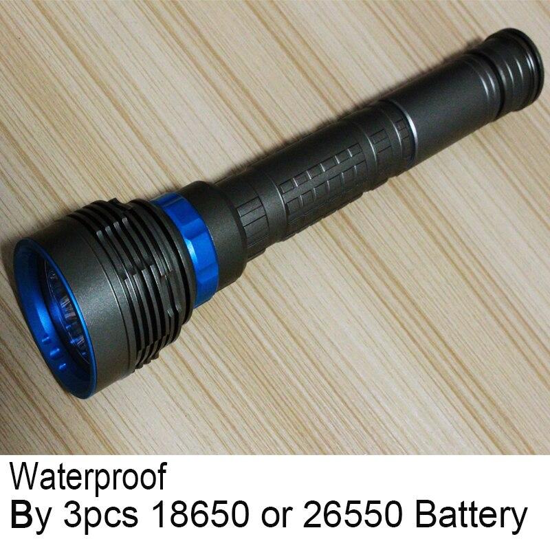 Светодио дный светодиодный фонарик для дайвинга 7 х CREE XM-L2 14000LM linternas подводный водостойкий фонарь Факел 3 26650 или 18650 батарея