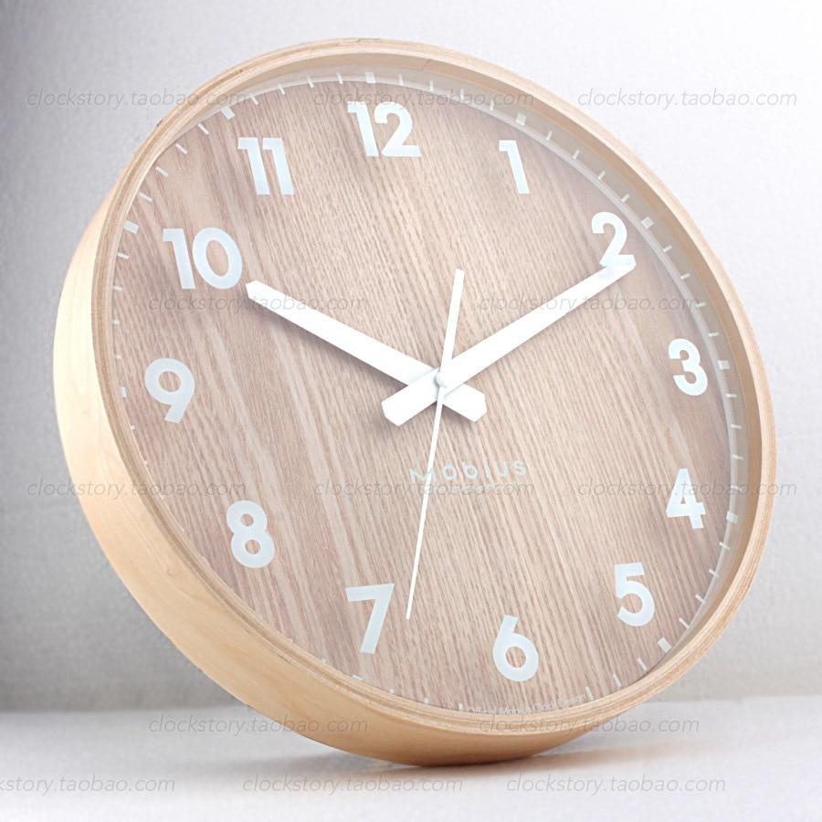 Ikea Mute Original Wooden System Wooden Wall Clock Minimalist