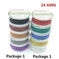 30 m 24 AWG Flexible Silicone Dây RC Cáp Phù hợp Với 5 Màu để Lựa Chọn Với Spool Gói 1 hoặc Gói 2