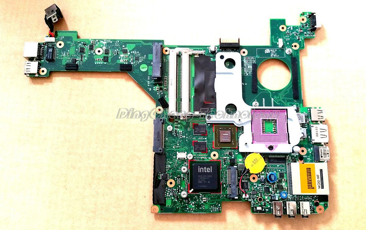 SHELI laptop Motherboard For hp DV3000 DV3500 468499-001 DDR2 965PM non-integrated graphics card 100% fully tested