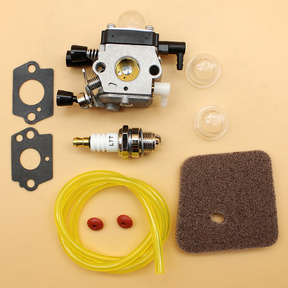 Carburetor Carb Check Valve Air Filter Fuel Hose Kit Fit <font><b>STIHL</b></font> <font><b>FS38</b></font> FS55 FS80 FS85 FS45 FC55 FS75 FS76 Trimmer Brushcutter image