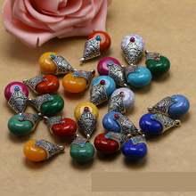 Тибетские Серебряные бриллианты подвески из натурального камня