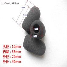 Foam Microphone Windscreen, mic sponge cover 10mm inner diameter & 35mm length 10 pcs /lot